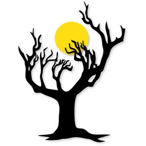 300x300 Wicked Tree Wmoon Silhouette Design, Silhouettes And Craft
