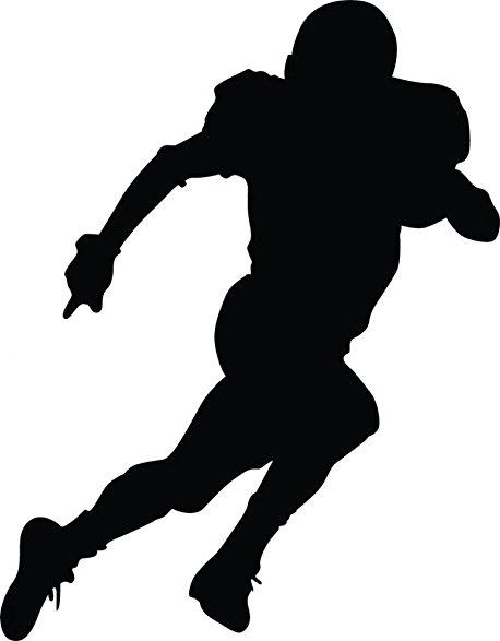 458x587 Wallmonkeys Football Silhouette