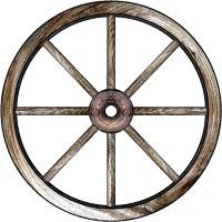200x200 Old Wagon Wheel Clipart