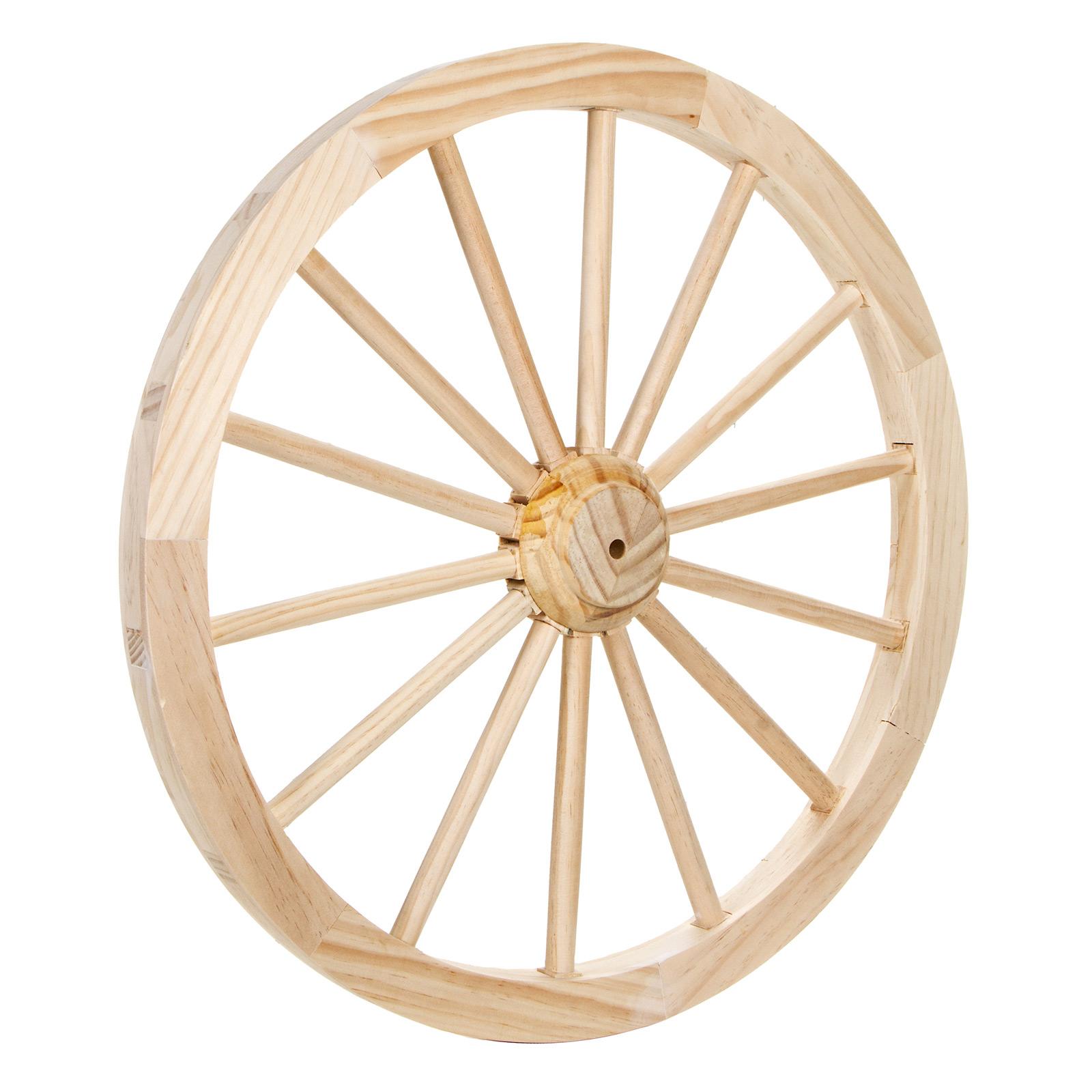 1600x1600 Unfinished Wood Decorative Wagon Wheels 23.5 Inches