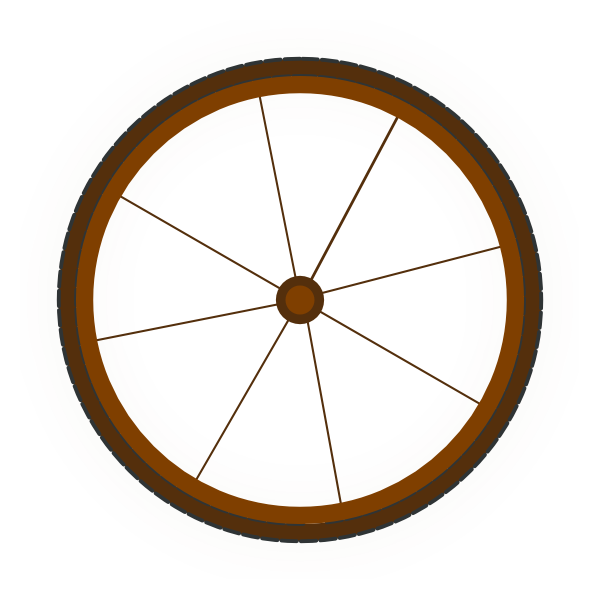 600x600 Wagon Wheel Clip Art