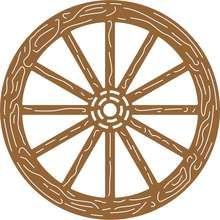 220x220 Wagon Wheel Die