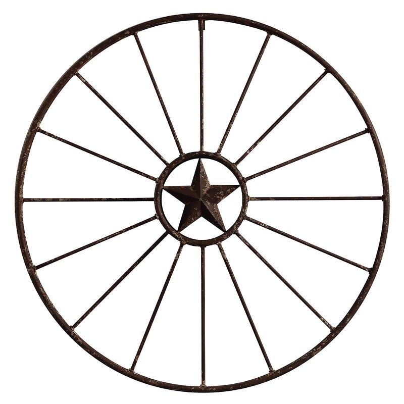 800x800 Birch Rustic Wagon Wheel Wall Decor Amp Reviews Wayfair