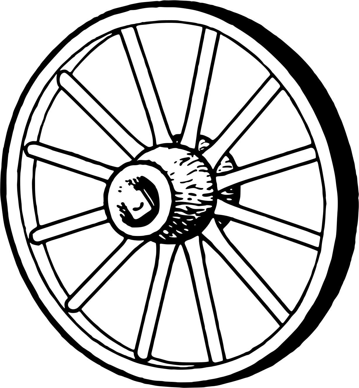 1229x1327 Wagonwheel 2 Clipart