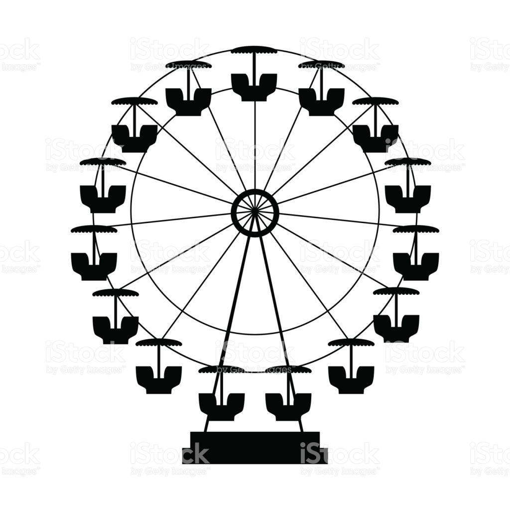 1024x1024 Ferris Wheel Clipart Silhouette Many Interesting Cliparts