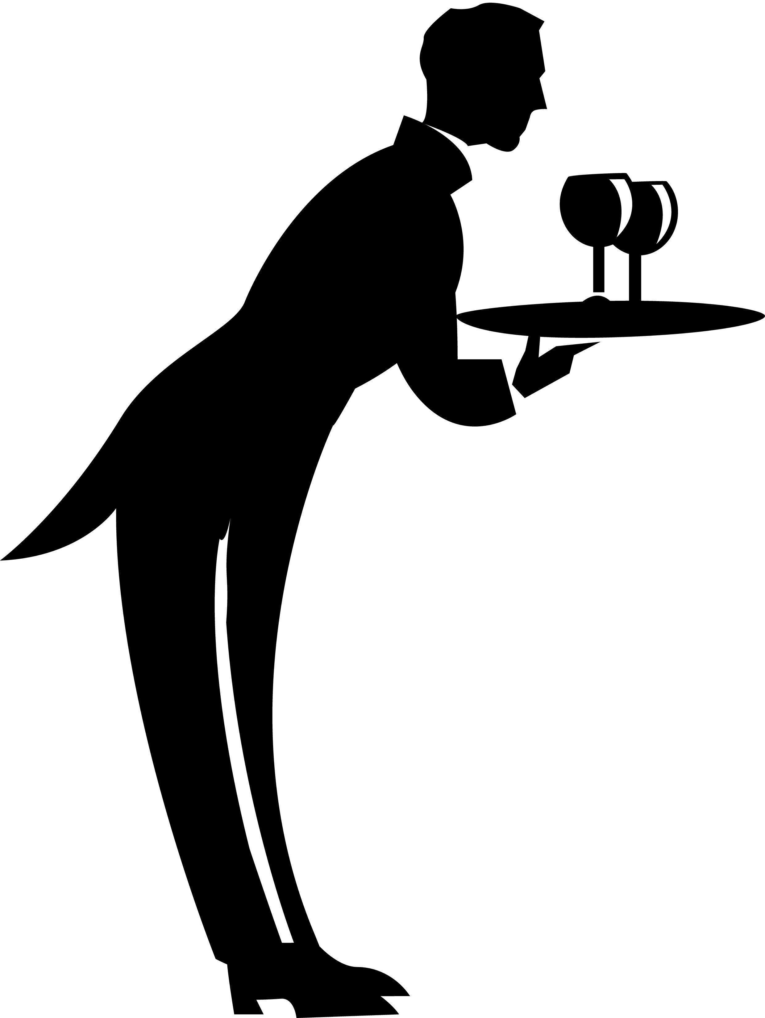 Waiter Silhouette