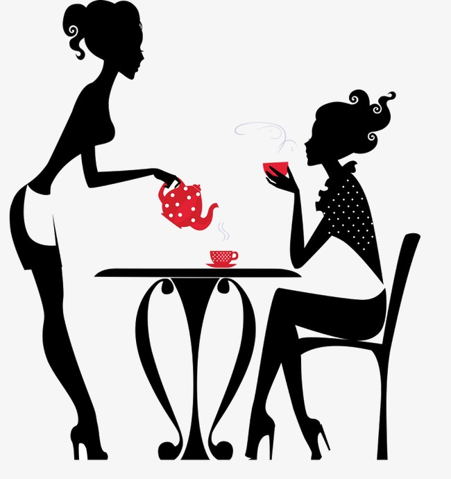 650x690 Silhouette, Coffee, Waiter Png Image And Clipart For Free Download