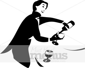 300x241 Waiter Pouring Wine Clipart Catering Clipart