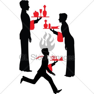 325x325 Waiter With A Tray And Notebook Gl Stock Images