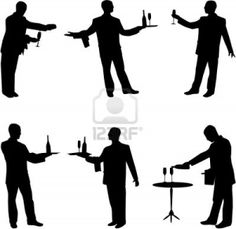 236x229 Waiters And Waitresses Silhouette Collection Stock Photo