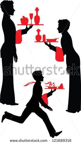 266x470 Eszadesign (Svetlana Zdanchuk) Silhouette Waiter With The Tray