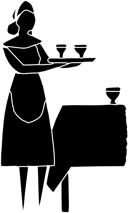 425x699 Free Clipart Of Waiters, Waitresses And Bartenders