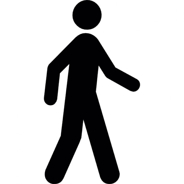 626x626 Silhouette Of A Man Walking Icons Free Download