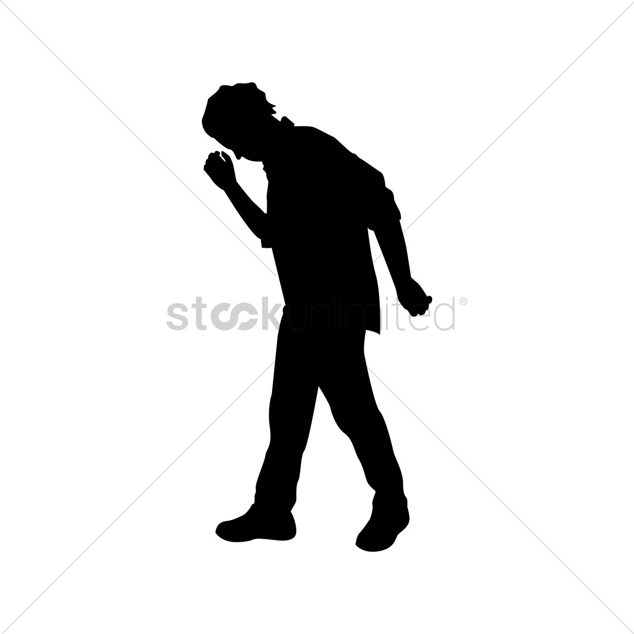 1300x1300 Silhouette Of Man Walking Vector Image