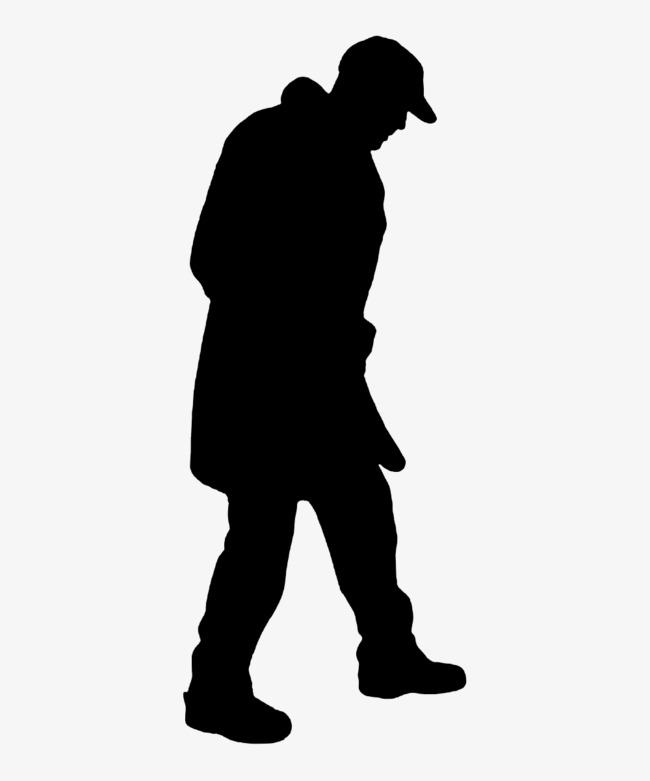 650x781 Walking Silently, Old Man Walking, Silhouette Old Bow, Old People