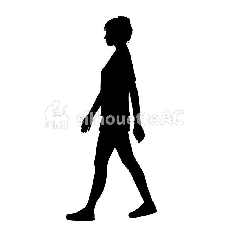 750x750 Free Silhouette Vector Arc, Icon, Walking