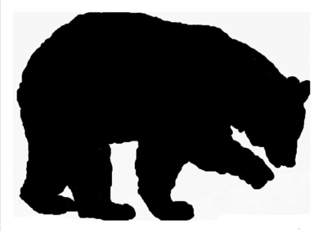 1024x739 Bear Clip Art Silhouette