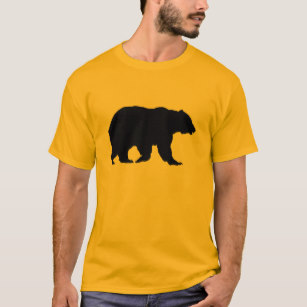 307x307 Bear Silhouette T Shirts Amp Shirt Designs Zazzle