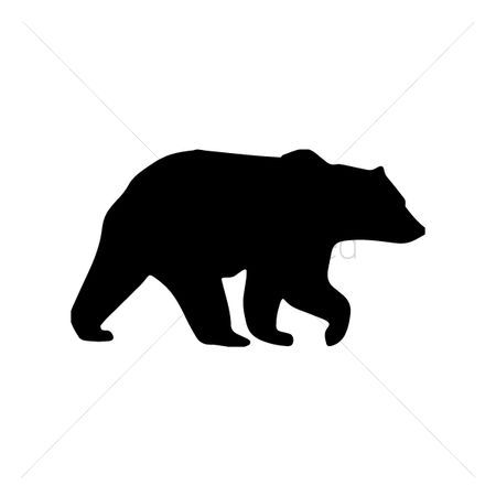 450x450 Grizzly Bear Head Silhouette