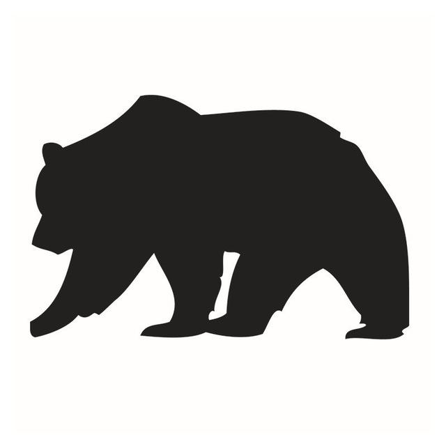 640x640 New Home Decoration Walking Brown Bear Shape Blackboard Sticker