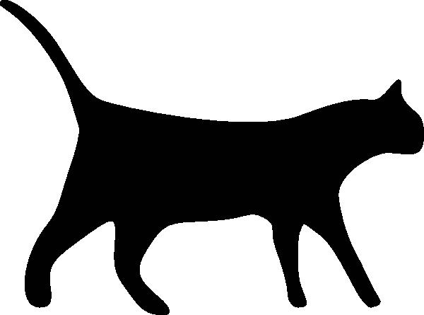 600x445 Cat Silhouette Clip Art