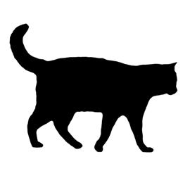 270x270 Cat Silhouette Stencil Free Stencil Gallery
