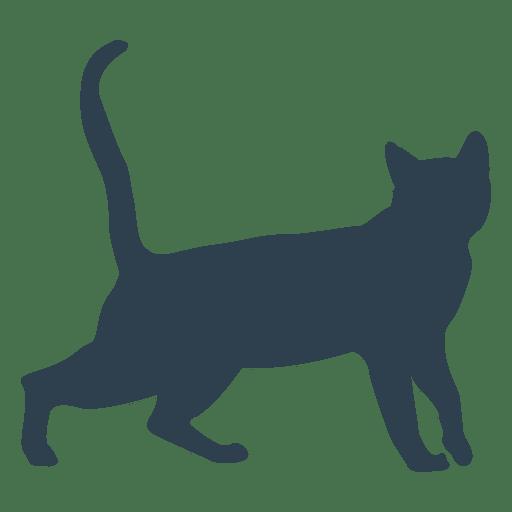 512x512 Cat Walking Silhouette