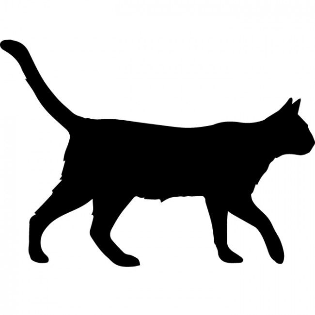 650x650 Walking Cat Silhouette Wall Sticker Creative Multi Pack Wall Decal