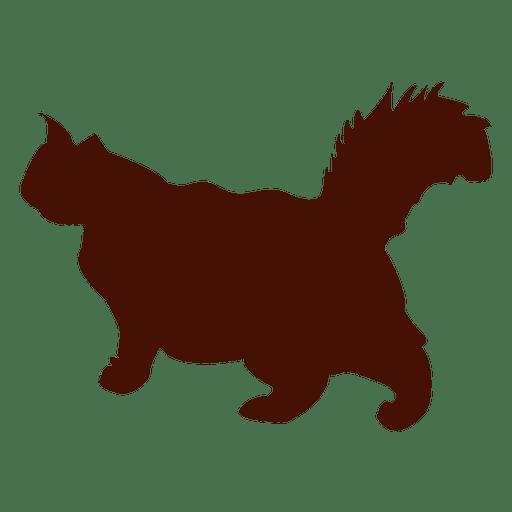 512x512 Big Cat Walking Pet Silhouette