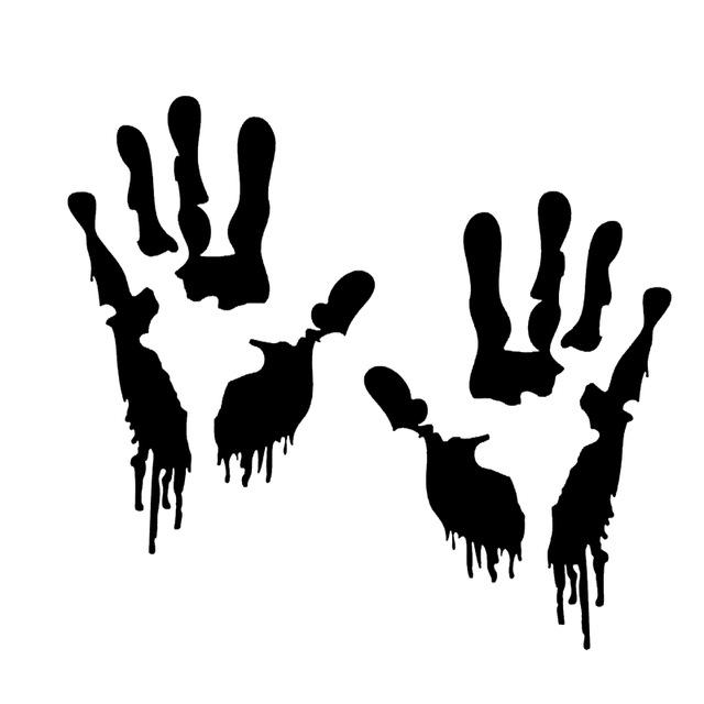 640x640 Hotmeini Bloody Zombie Hand Walking Dead Halloween Car Sticker
