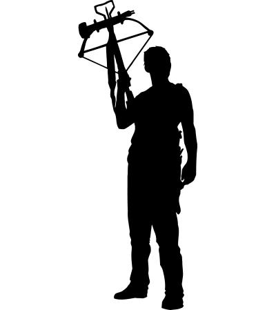 400x449 Walking Dead Daryl Silhouette Tee Shirt Walking Dead Daryl