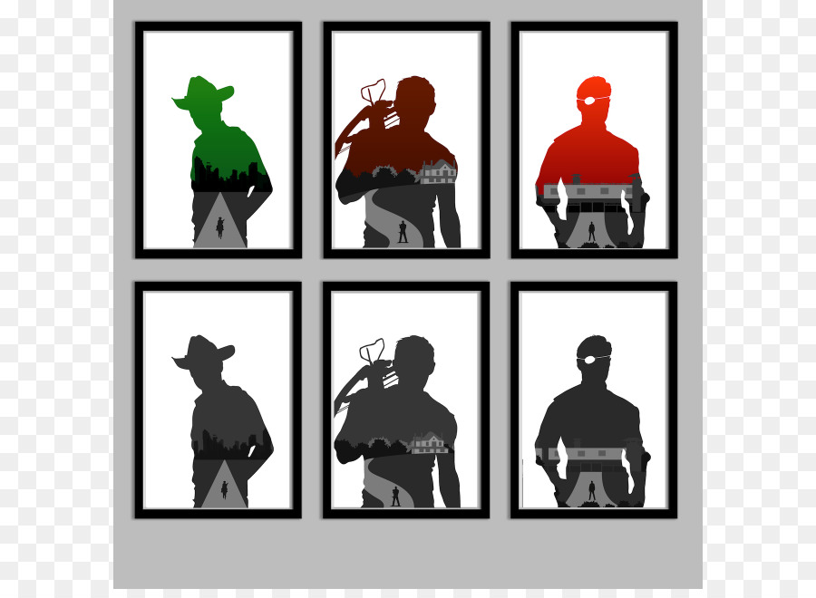 900x660 Daryl Dixon Rick Grimes Michonne The Governor Silhouette
