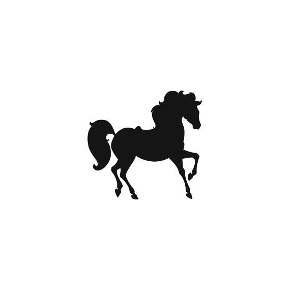 570x570 Horse Silhouette Stamp Prancing Horse Walking Horse Stamp