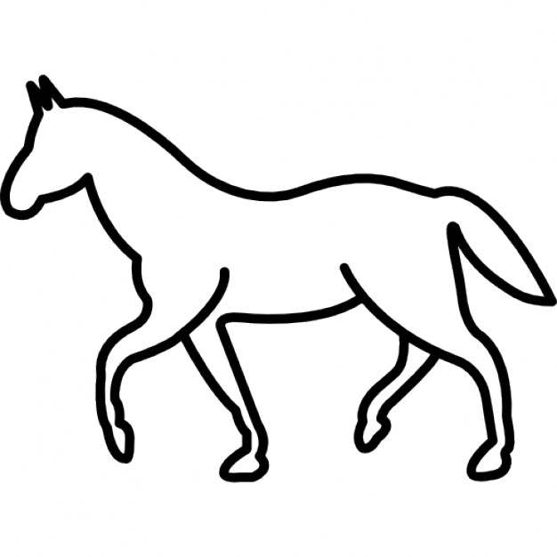 626x626 Walking Horse Silhouette Free