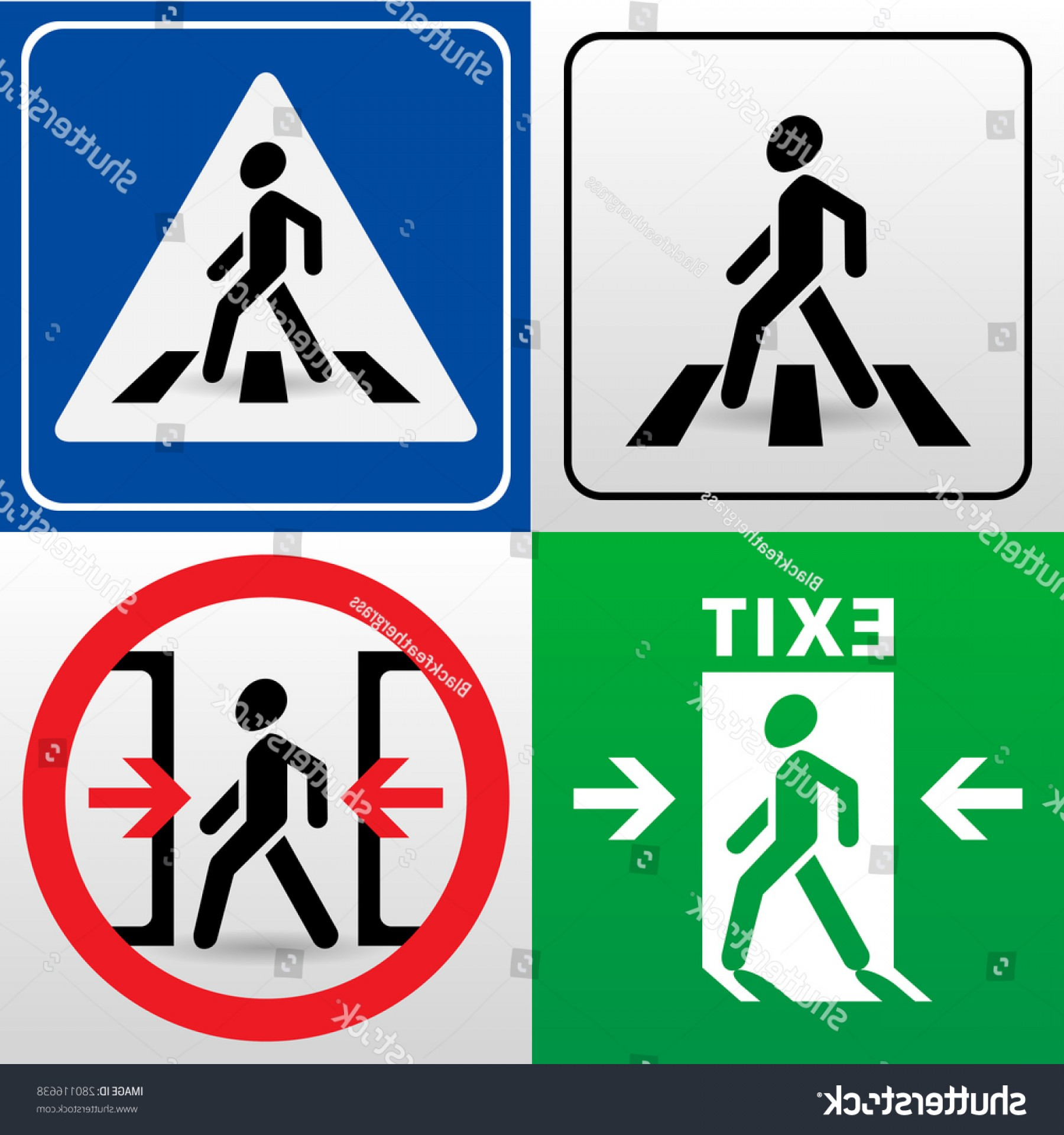 1800x1920 Set Vector Signs Walking Man Silhouettes Createmepink