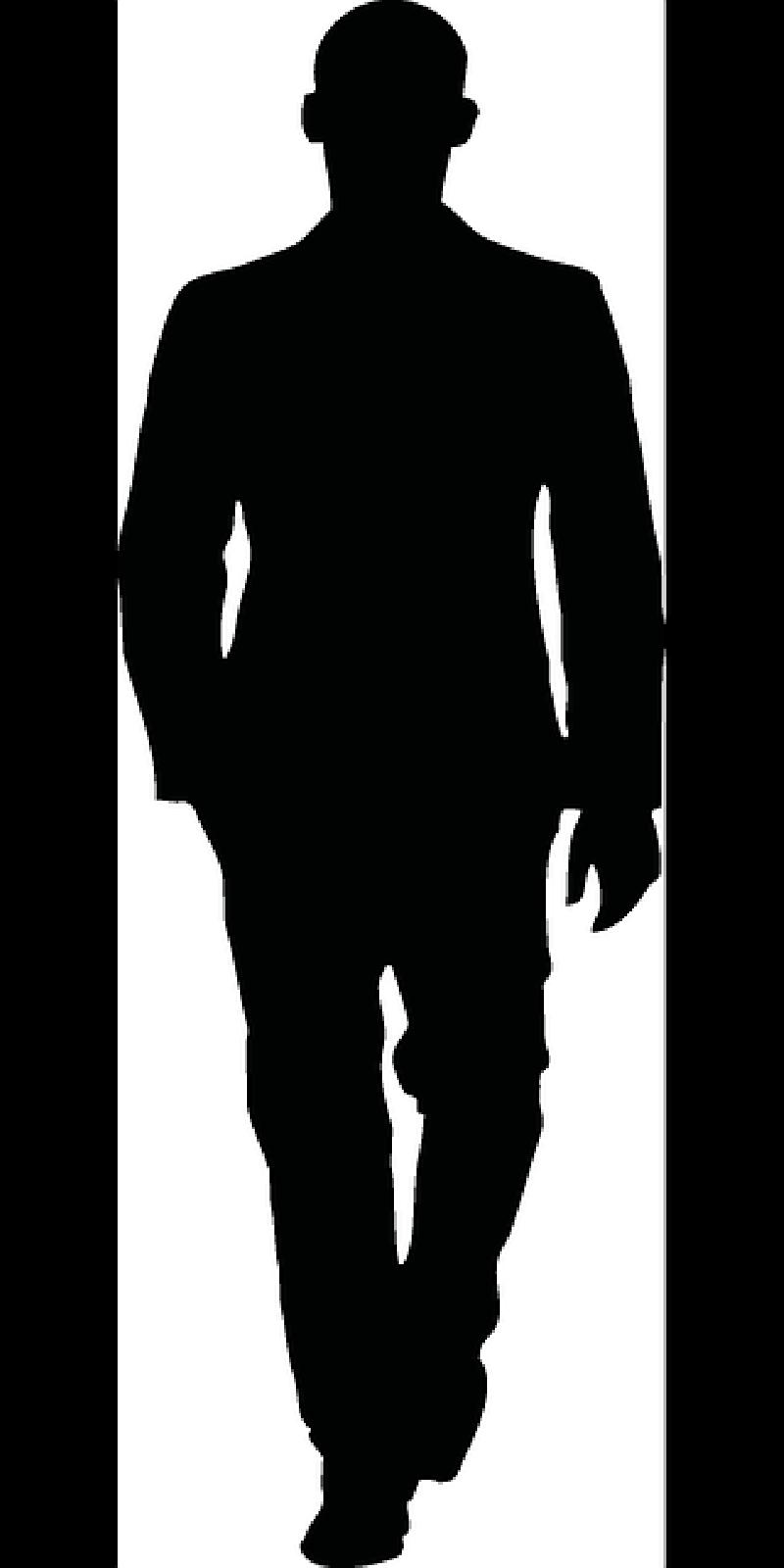 800x1600 Walking, Man, Male, Figure, Sportive, Silhouette