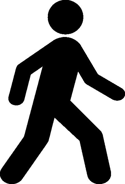 402x592 Walking Man Black Clip Art