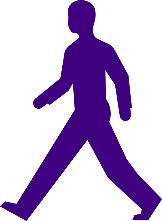 528x720 Clipart Walking Person