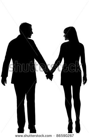 300x470 One Lovers Caucasian Couple Man And Woman Walking Hand Hand