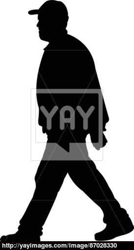274x512 Walking Man Silhouette Vector Vector