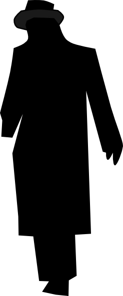 246x593 Man Silhouette Walking Night Clip Art