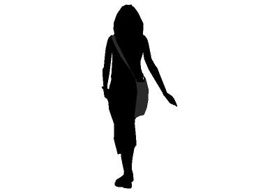 Walking People Silhouette