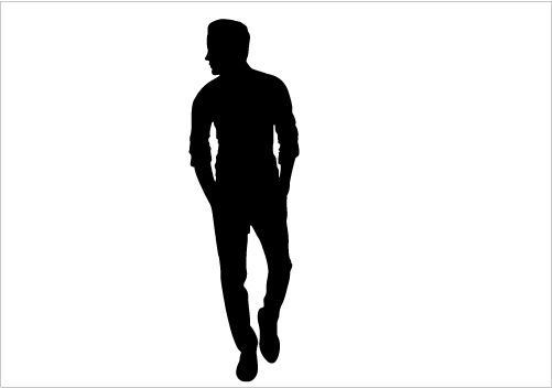 501x352 Man Walk Silhouette Graphics Silhouette Graphics