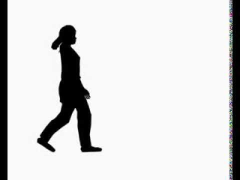 480x360 Silhouette Girl Walking