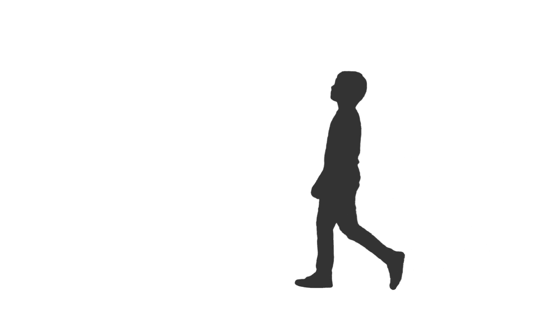 1920x1080 Silhouette Of Little Boy Walking Around Amp Watching Something, Full