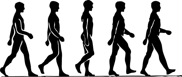 600x254 Walking Person Silhouette Clip Art Free Vector 4vector