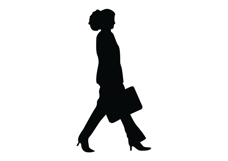 800x566 Woman With Bag Silhouette