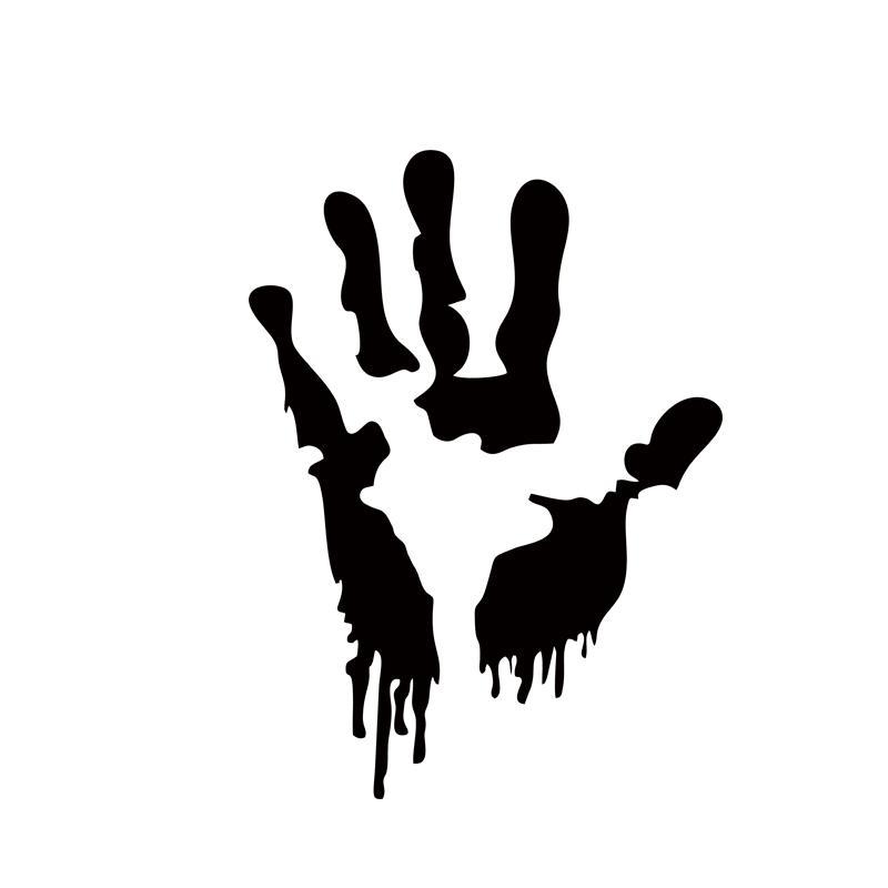 800x800 Online Cheap 2x Zombie Hand Print Sticker Walking Car Styling Dead