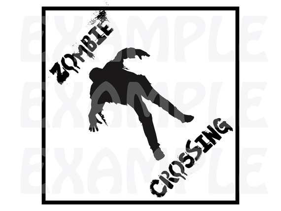 570x428 Pdf Zombie Crossing Sign 2 Halloween Crossing Sign Party
