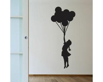350x280 Floating Balloons Vinyl Decals Silhouette Wall Art Sticker